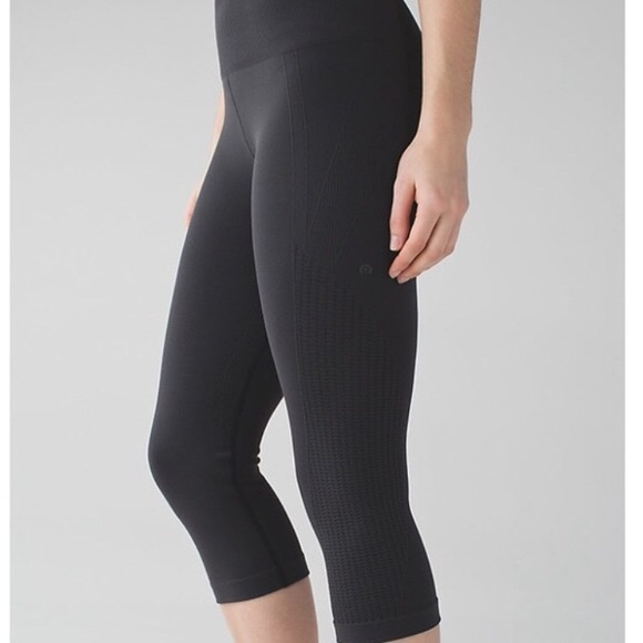 1ce7ac8930 lululemon athletica Pants | Lululemon Flow And Go Crop 4 Black ...